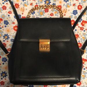 "NWT Michael Kors ""Mindy"" Black Backpack Handbag"